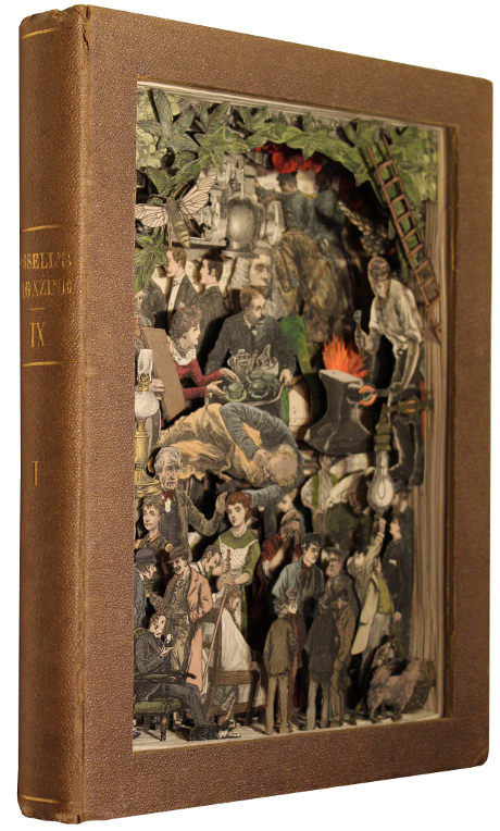 carved 3D book by Kerry Miller: Cassell's Family Magazine