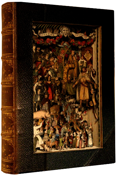 book sculptures by Kerry Miller: The Book Of Days vol 1
