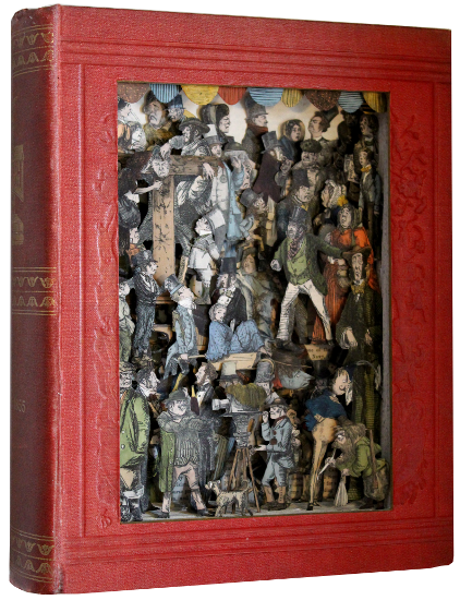 book sculpture by Kerry Miller: Punch 1853-1855