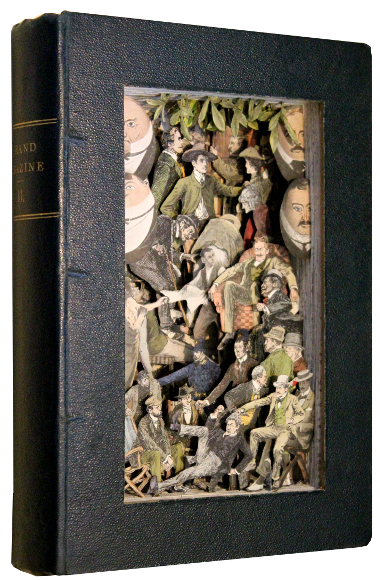 book sculptures by Kerry Miller: Strand Magazine - vol 13