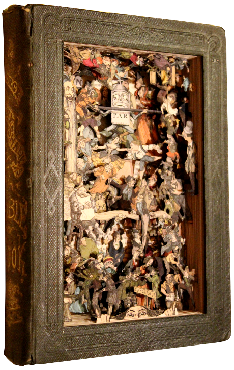 book sculptures by Kerry Miller: George Cruikshank's Table Book